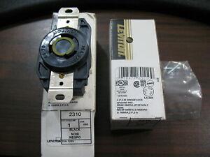 New Lot of 2 Leviton 2310 Nema L5-20 Twistlock Receptacles 20 Amp 125V 3 Wire