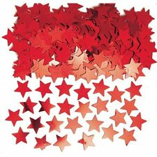 Red Star Shape Table Confetti Sprinkles Red Party Table Decorations