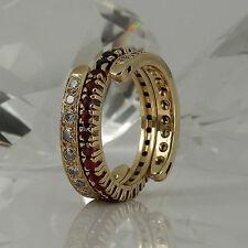 Markenlose Echte Edelstein-Ringe aus Gelbgold mit Diamant für Damen