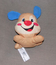 """Fisher Price Laugh & N And Learn Stuffed Plush Dog Rattle W9737 Cloth Toy 4"""""""