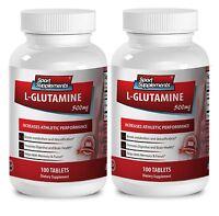 Building Up Your Energy Tablets - L-Glutamine 500mg - Liquid Amino Acids 2B