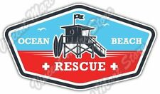 "Lifeguard Rescue Team Ocean Beach Car Bumper Window Vinyl Sticker Decal 6""X3"""
