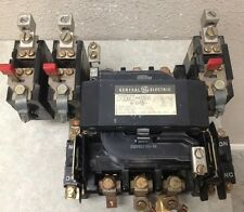 GE CR306E0 SIZE 3 OPEN STYLE STARTER 600 VOLT MAX W/ OVERLOAD AND NO/NC CONTACTS