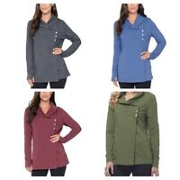 Danskin Women's French Terry Wrap Cardigan - Various Colors and Sizes