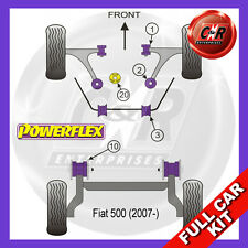 Fiat 500 Abarth (ab 07) Powerflex Komplett Buchsensatz