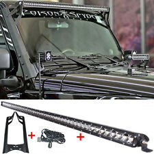 "51"" 250W LED Light Bar + Mounting Brackets For Jeep Wrangler JK 2007-15 52"" 300W"