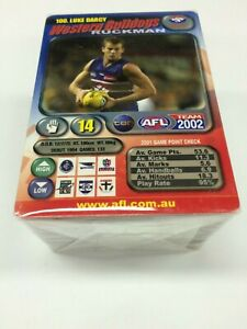 2002 AFL Teamcoach Trading Card Full Base Card Set (100)