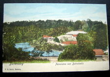 INDONESIA  PANORAMA  VAN BATOETOELIS  CANCEL DEUTSCE POST ASIATISCHE LINIE 1910