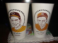 Two Vintage Rare 1970s Baseball Hall of Fame Slurpee Cups, Good Condition!