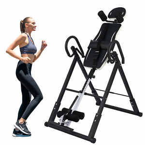 Foldable Gravity Inversion Table Pain Relief Inverting  Body Board Back Support