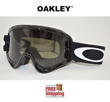 OAKLEY® O-FRAME® GOGGLES MX ATV MOTOCROSS MOTORCYCLE OFF ROAD JET BLACK TINTED
