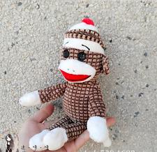 New Ty Sock Monkey Lovely Brown Stripe Paul Frank Soft Plush Dolls Toys 6''/15cm