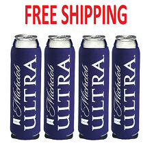 4 New AUTHENTIC Michelob Ultra SLIM CAN Beer Koozie Coozie Coolie Bud Light Lime