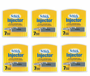 Schick Injector Refill Chromium Blades, Prevents Razor Bumps - 7 Ct (Pack of 6)