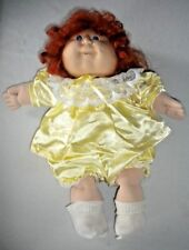 VINTAGE CABBAGE PATCH KIDS RED HAIRED DOLL IN YELLOW DRESS  1982