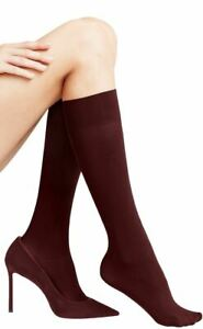 Falke Womens Pure Matte 50 Den Knee High Tights - Barolo Burgundy