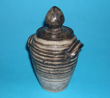 Studio Pottery - Attractive Stoneware Twin Handled Lidded Pot / Urn- Makers Mark