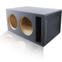 "4 ft³ PORTED @ 32Hz SUBWOOFER ENCLOSURE MDF SPEAKER BOX FOR PAIR OF 12"" WOOFERS"