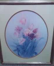 Spring Tulip Limited Edition Print Signed numbered & framed #90 of 1950 Lena Liu