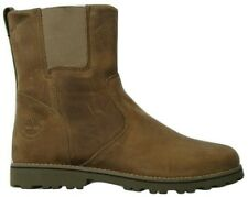 Junior Boys Childrens Timberland Distressed Taupe Leather Chelsea Shoes Boots UK