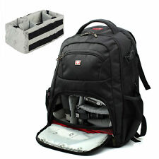 "Swiss Gear Waterproof DSLR SLR Camera Bag 15.6"" Laptop Backpack With Rain Cover"