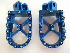 Warp 9 Billet Footpegs Blue Husaberg TE 250 300 FE 350 501 570 650 2008 - 2014