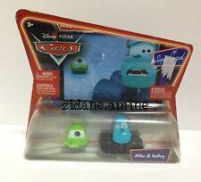 Disnay Pixar Cars 2 pack Monsters Inc University Mike & Sulley NIP shelfwear