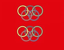 Claud Butler Olympic Rings Bicycle Decals, Transfers, Stickers N.12