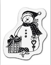 cArt-Us Clear rubber stamp SMALL SNOWMAN WITH HEART - 001883/1116 REDUCED