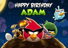 PERSONALISED ANGRY BIRDS SPACE BIRTHDAY CARD