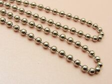 """~Custom Made~ Unisex STAINLESS STEEL 3MM Ball CHAIN NECKLACE 61CM (24"""") ++ Long"""