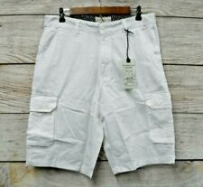 Alexander Julian Shorts Mens Size 32 White Thin Cargo Shorts New Mis Tag