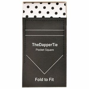 New Men's Polka Dots Flat Pre Folded Pocket Square on Card - TheDapperTie