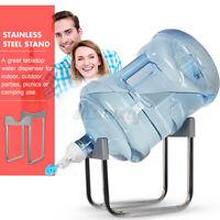 Water Bottle Rack Stainless Steel Dispenser Stand Holder + Valve Nozzle + Stick