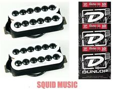 Seymour Duncan Invader 6 String Set In White SH-8 ( 3 SETS OF DUNLOP STRINGS )