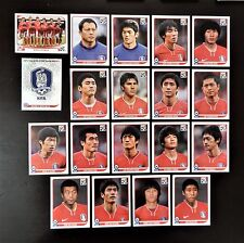 Panini FIFA World Cup South Africa 2010 Complete Team South Korea + Foil Badge