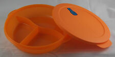 Tupperware MicroTup Crystal Wave Geschirr 1,9 l 3-Geteilt rund Orange Neu OVP