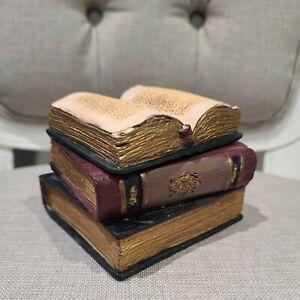 Vintage look Stack Of Books Lidded Trinket Box/Ornament