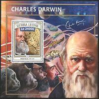 SIERRA LEONE  2016 CHARLES DARWIN SOUVENIR SHEET MINT NH