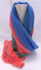Scarf Blue Red Green 72x48