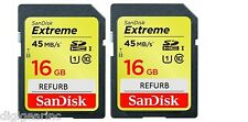 32GB : 2 of SanDisk SD Extreme 16 GB SDHC 45MB/s c 10 Card REF for GoPro Hero 2