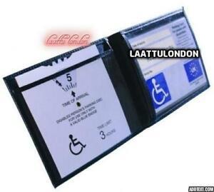 Pu Leather Disabled Parking Permit Holder Blue Badge Safe Hologram Display cover