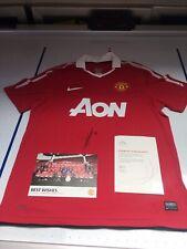 2010 2011 Anderson Manchester United Signed Shirt Man Utd COA Brazil Legend