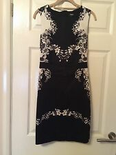 Oasis Black & White Dress Size 8