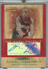 2007-08 Topps Trademark Moves Martell Webster SSP AUTO #03/10!!! WIZARDS