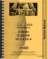 Case D DC DE DH DI DO DV Tractor Service Manual (CA-S-D SERIES)