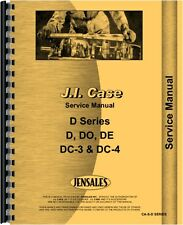 Case D DC DE DH DI DO DV Tractor Service Manual (CA-S-D SERIES)