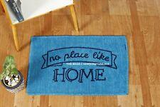"""NO PLACE LIKE HOME"" Quotes Rug Door Mat Kitchen Bathroom Floor Mat Carpet Blue"