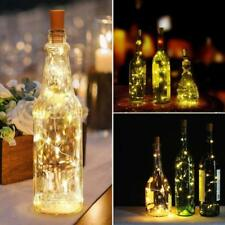 Wine Bottle Cork Battery Fairy String Lights 20 LED Xmas Party Decor 2M
