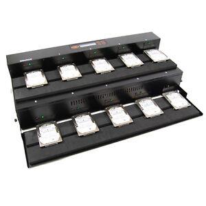 SySTOR 1:9 SATA Flatbed Hard Disk Drive HDD/SSD Duplicator Cloner - 300MB/sec